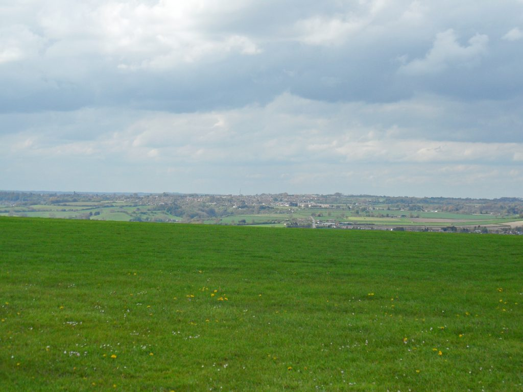 View of Shaftesbury from Compton Abbas airfield