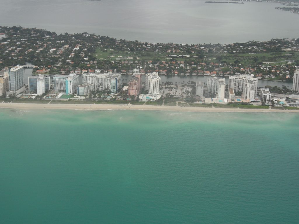 Miami Beach from the west