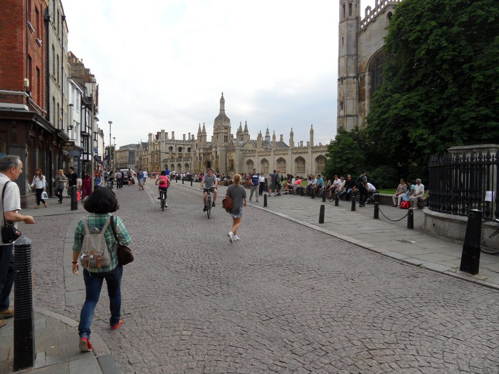 Centre of Cambridge with Kings College in the background