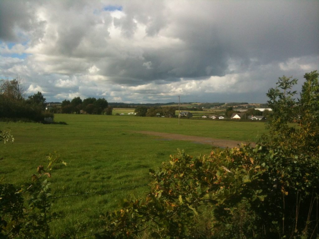 View of Bembridge Airport from across the meadow