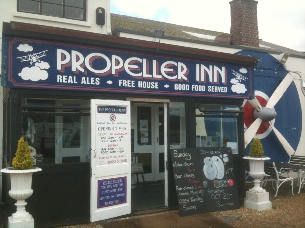 Propellor Inn next door to Bembridge Airfield