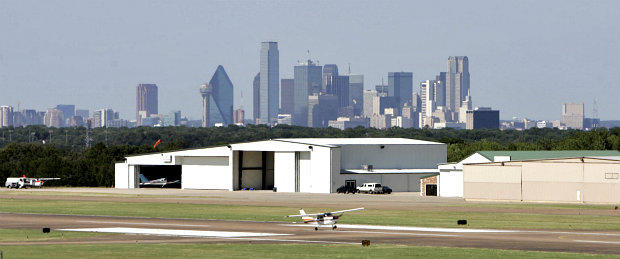 Dallas downtown backdrop