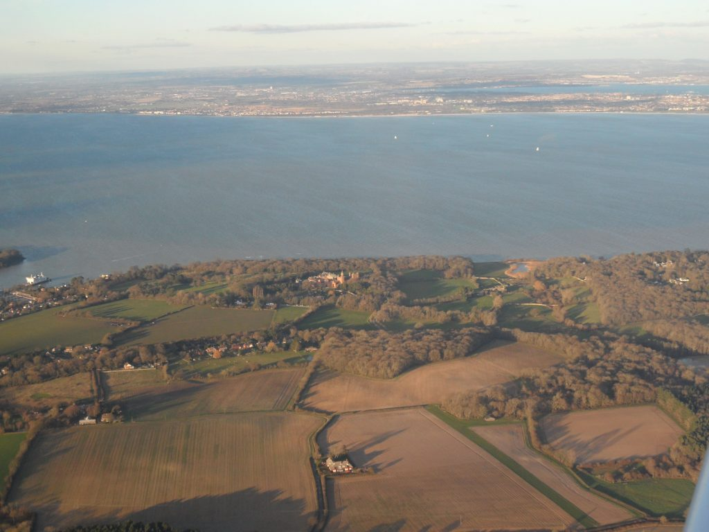 View of the Solent (between Isle of Wight and mainland) after departing Bembridge