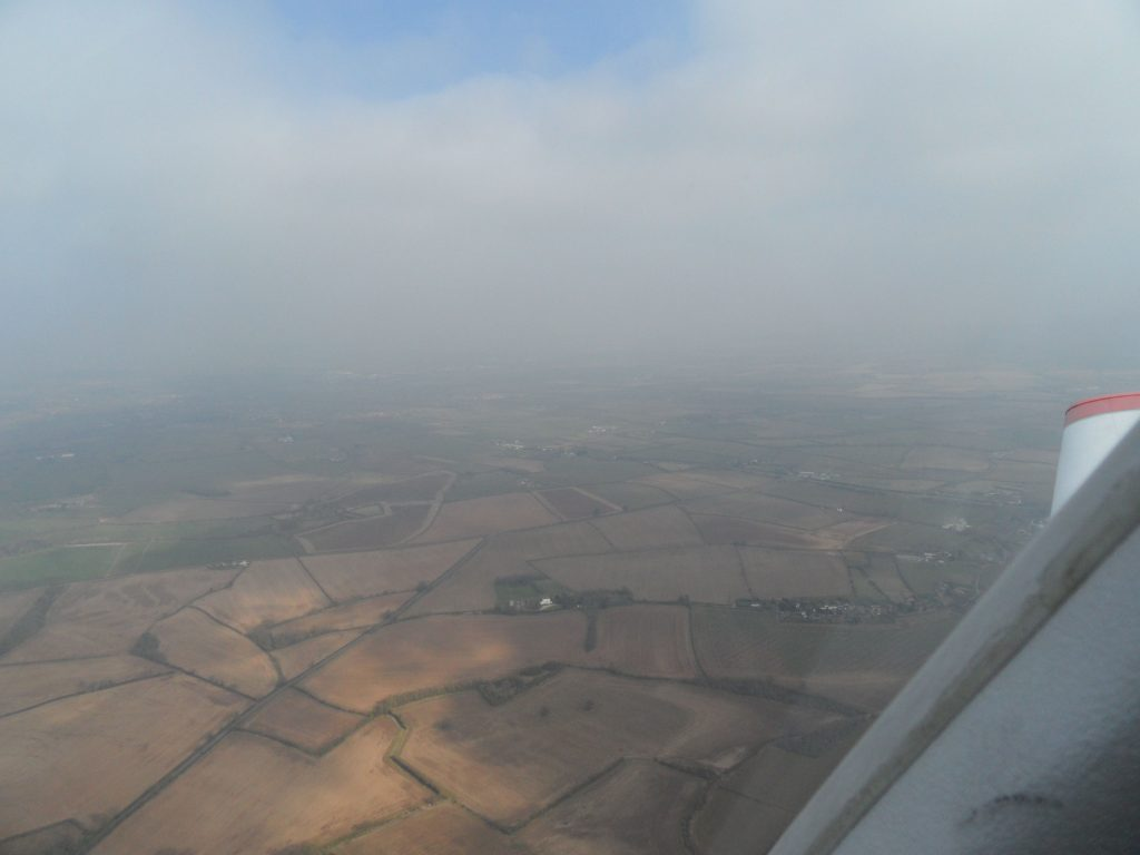 Poor viz over Gloucester Airport