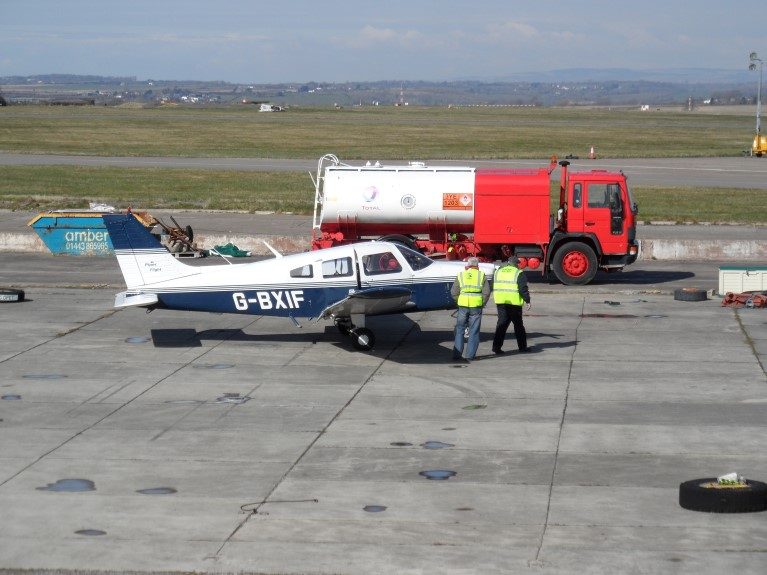 Cardiff Airport refuelling bowser