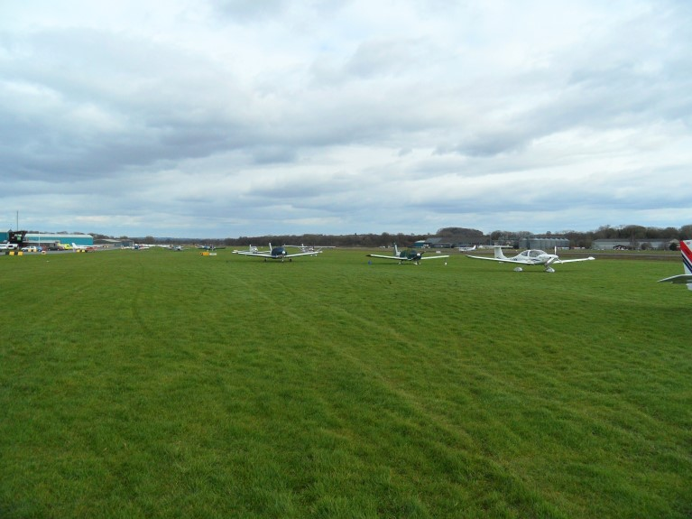 Shobdon Airfield visitors parking area