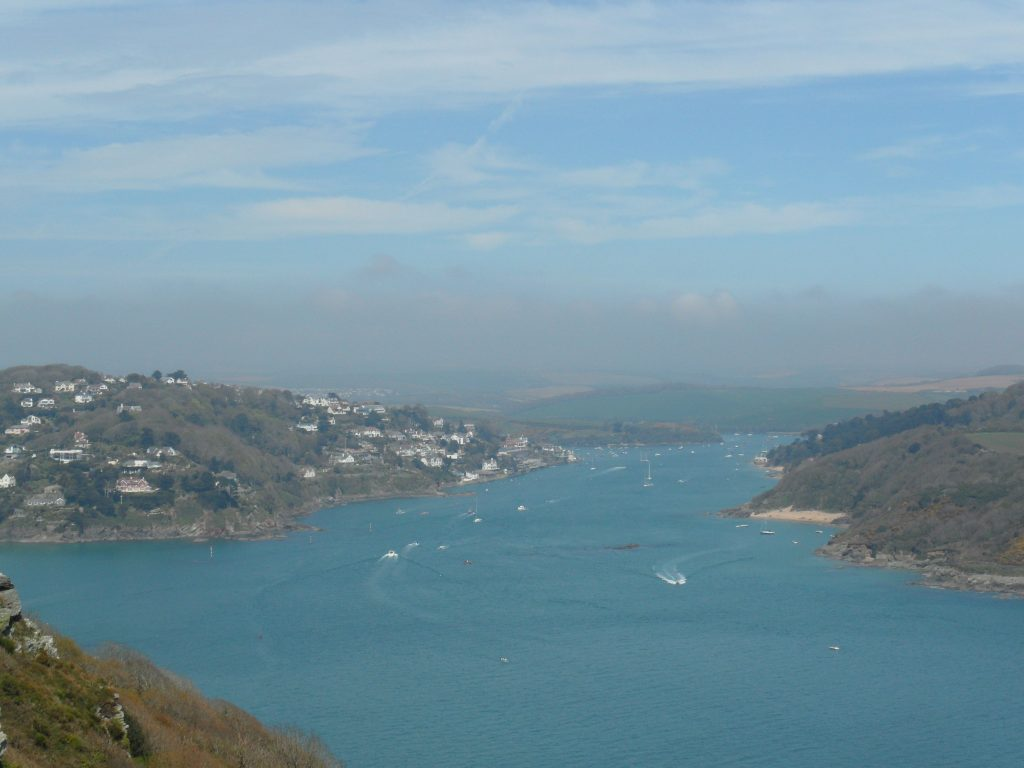 View of Salcombe from Bolt Head looking North