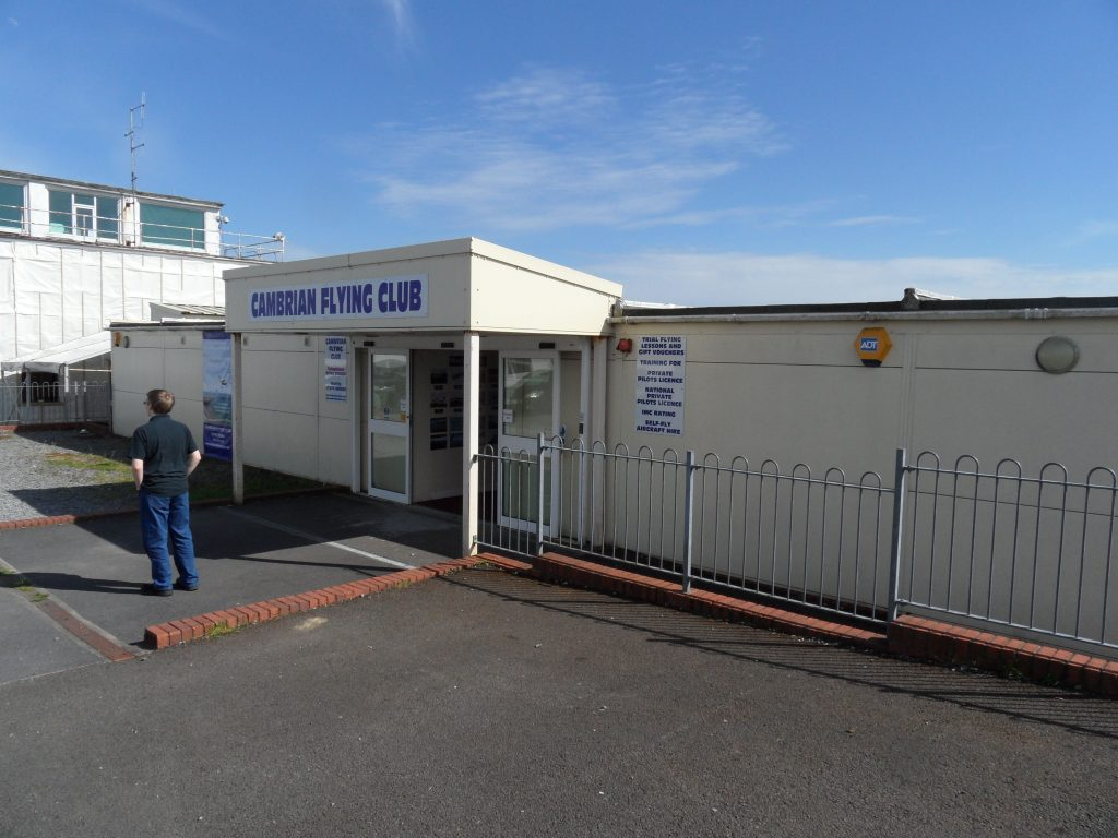 The Cambrian Flying Club has a pretty basic frontage, but is actually quite nice inside
