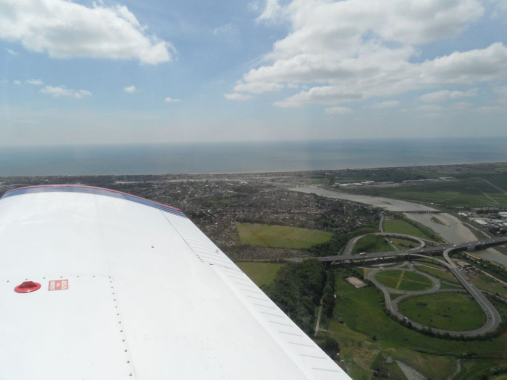 Departing Shoreham - view to south and east