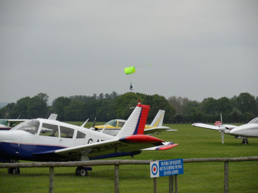 Arrow at Headcorn with parachuting in progress