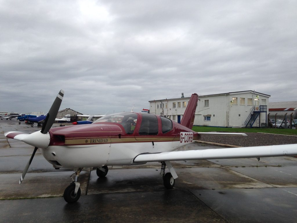 Parked up outside the White Building at Cardiff Airport