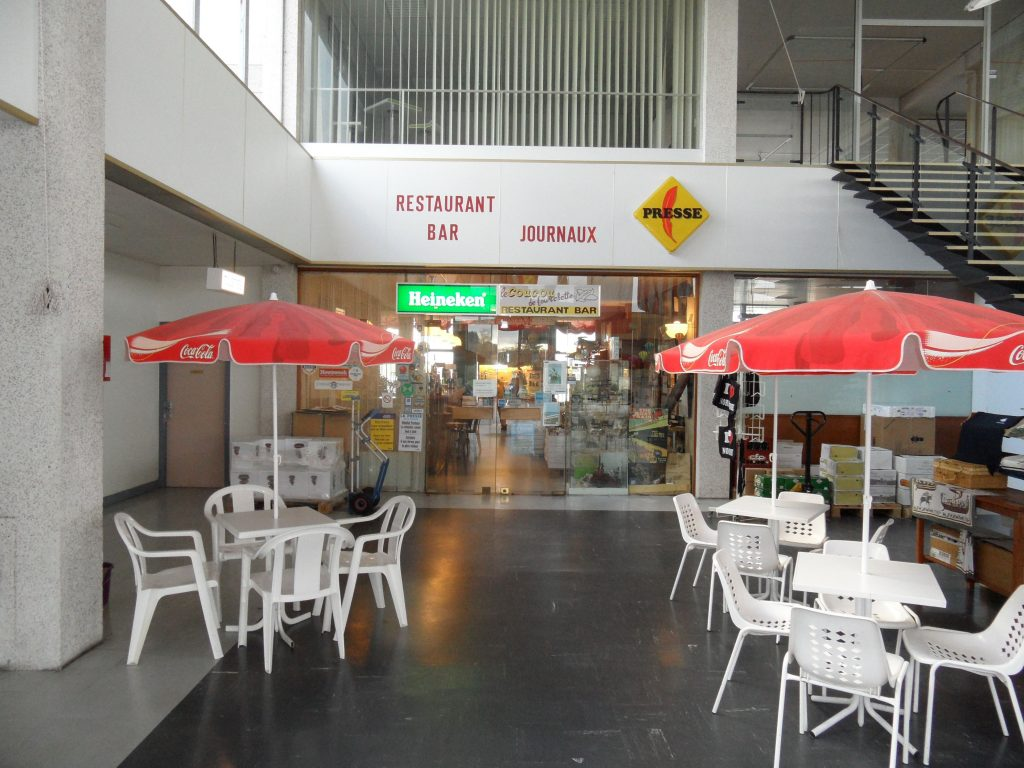 The plain airport cafe entrance belies some delightful food and wine inside