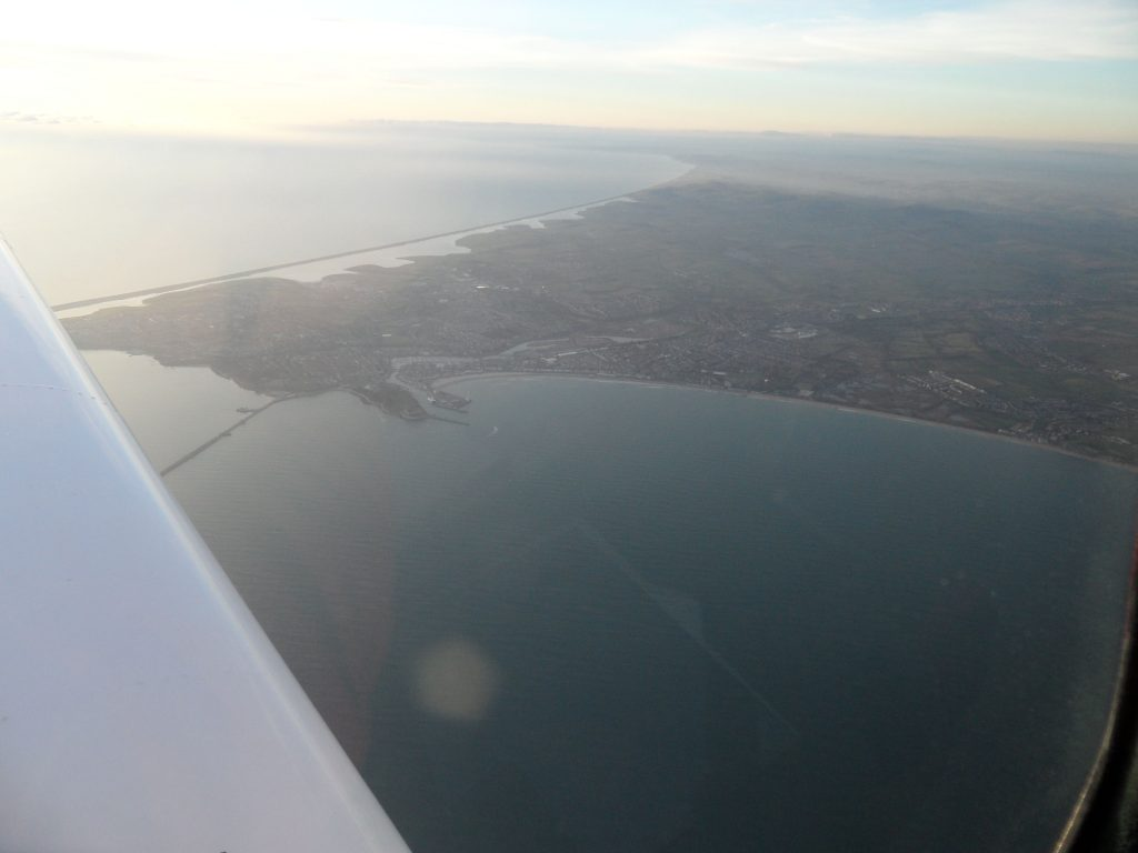 Weymouth clearly visible  when coasting in