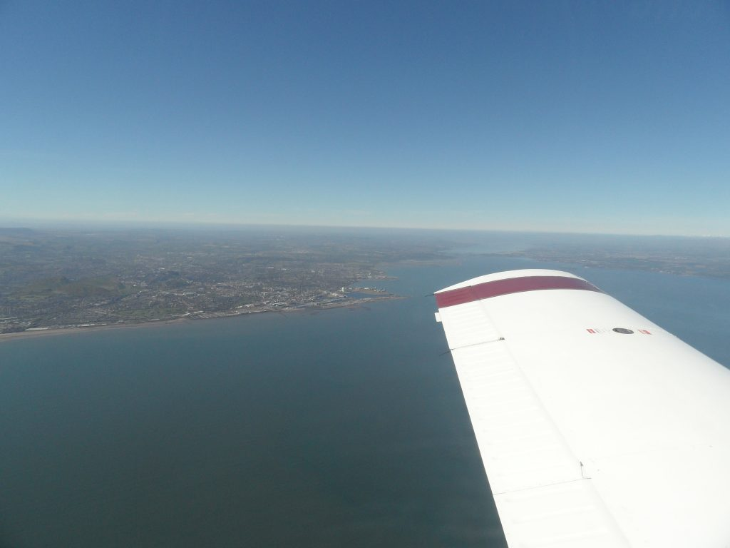 Mid-channel over the Forth Estuary