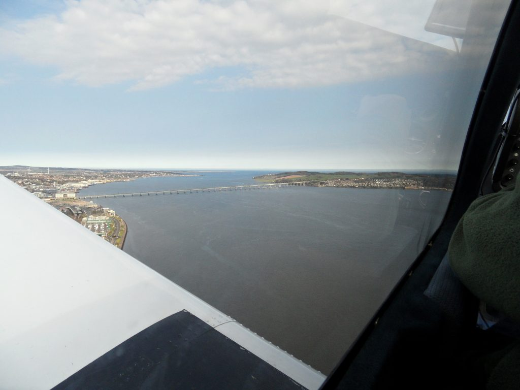 View east on climbout from 09