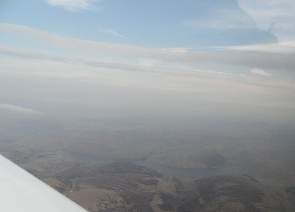 Hazy over the Lake District