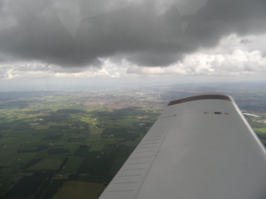 4000 feet VFR - Just underneath some nasty looking clouds