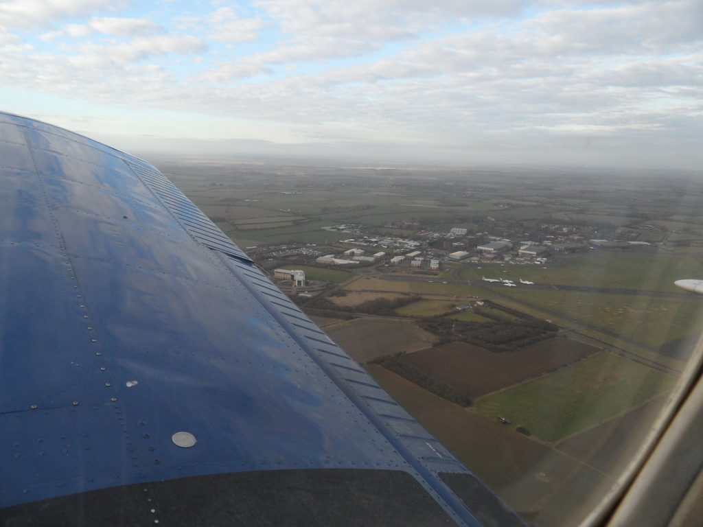 Departing Cranfield
