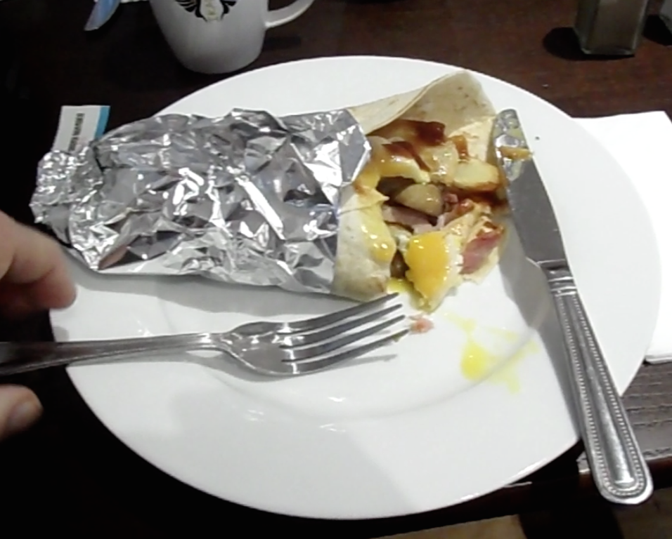 English breakfast in a wrap