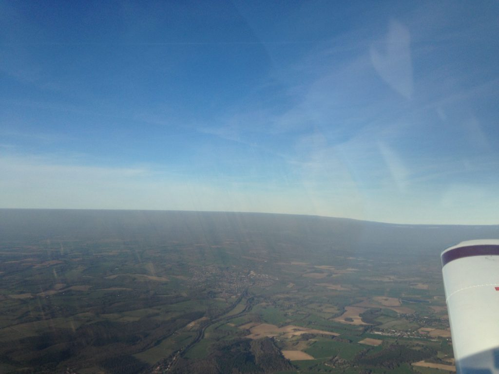 Fabulous visibility over England