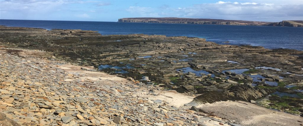 Looking across from Castletown beach to Dunnet Head