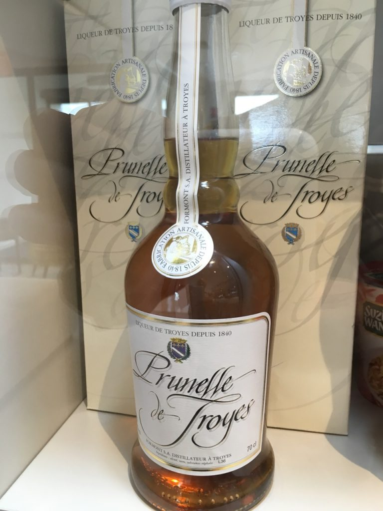 Prunelle - local delicacy, midway between Drambuie and Cognac