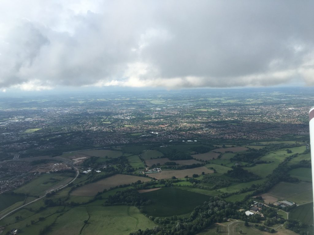 Worth staying low below cloud for the short flight