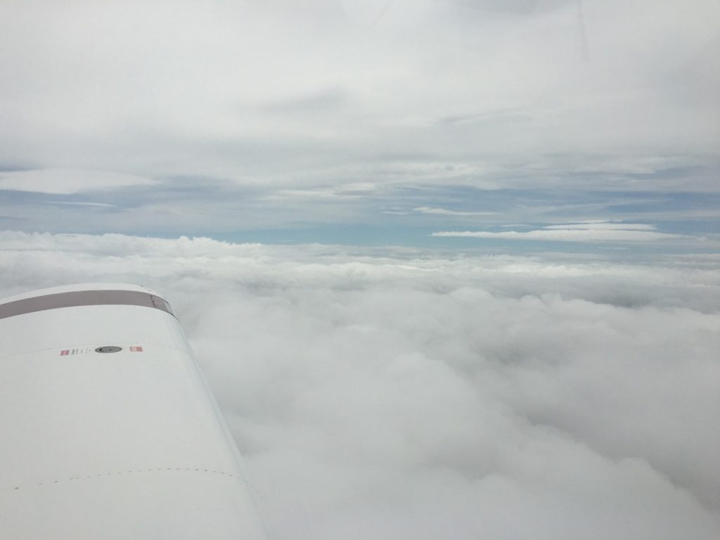 Above the cloud south of Gloucester