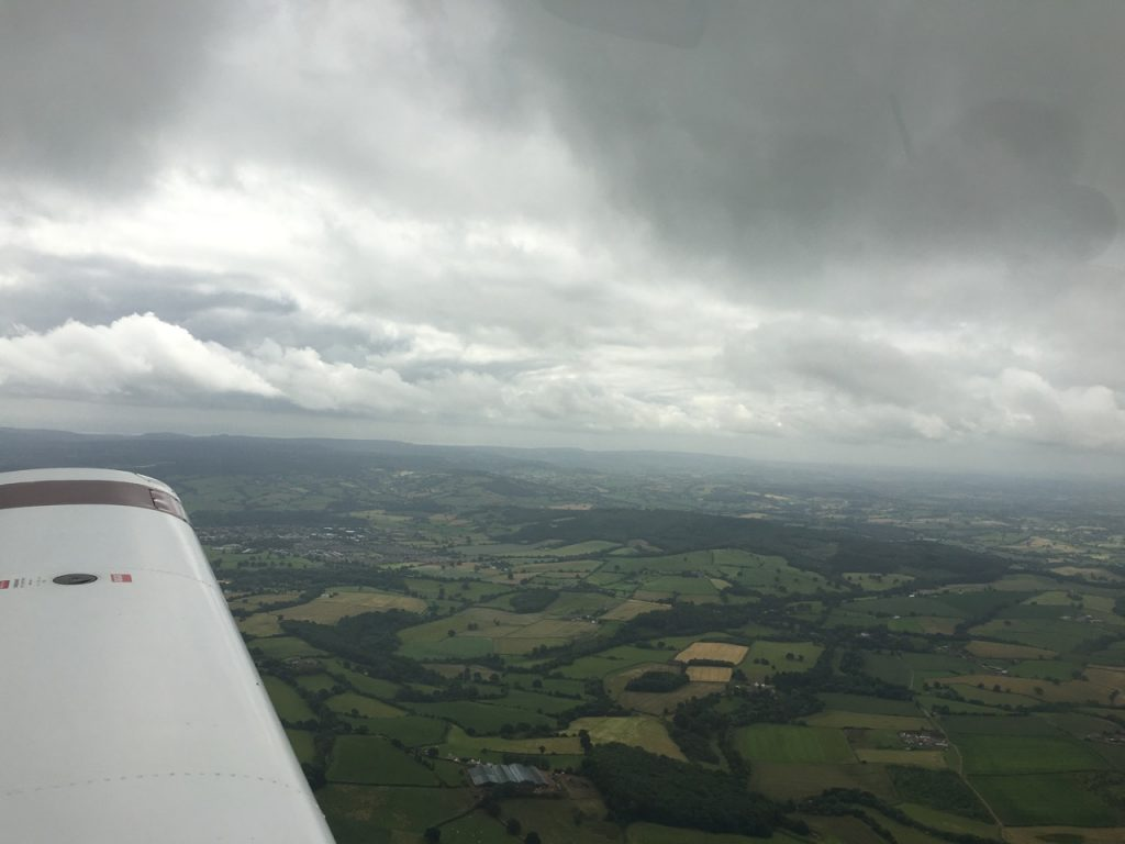 VFR conditions after departing Gloucester