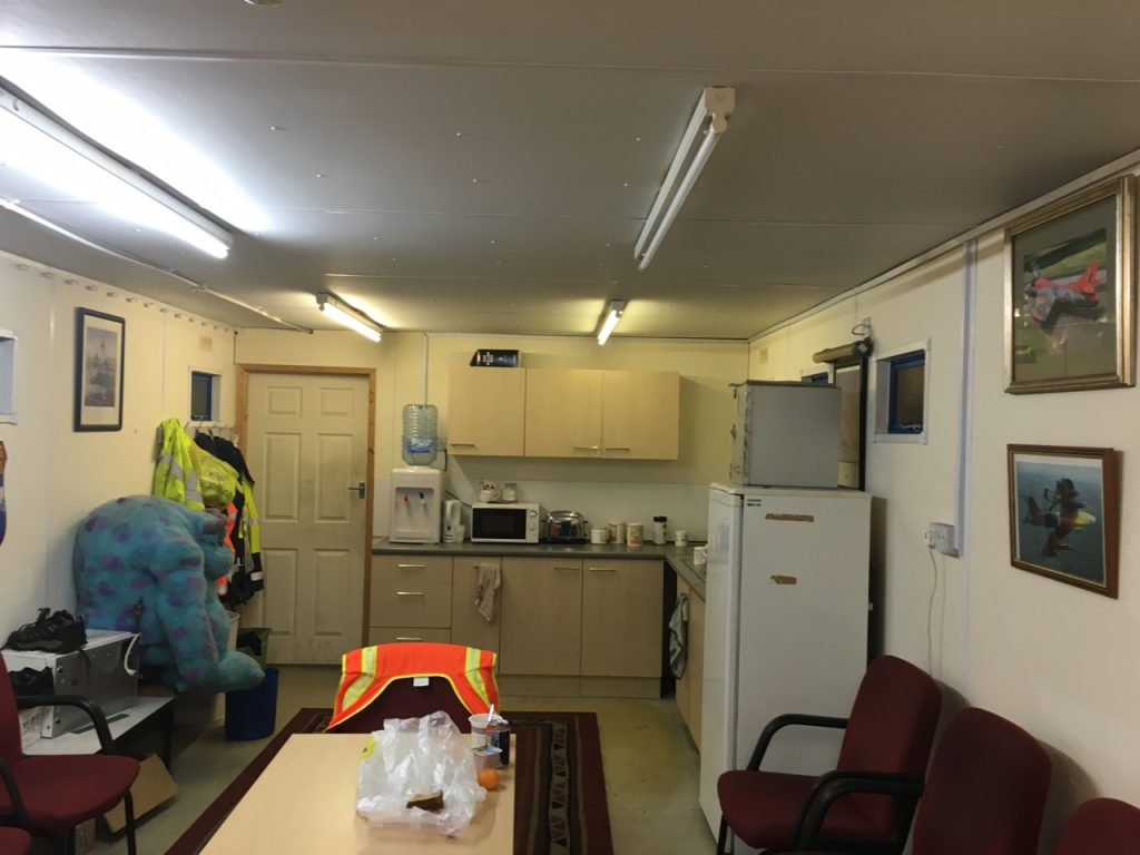 Crew room/canteen at Horizon Aviation, St Athan