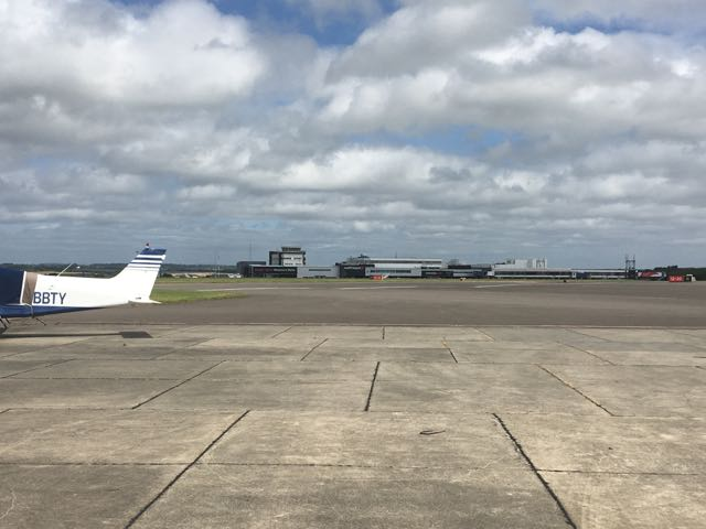 View of Cardiff main terminal from the GA apron