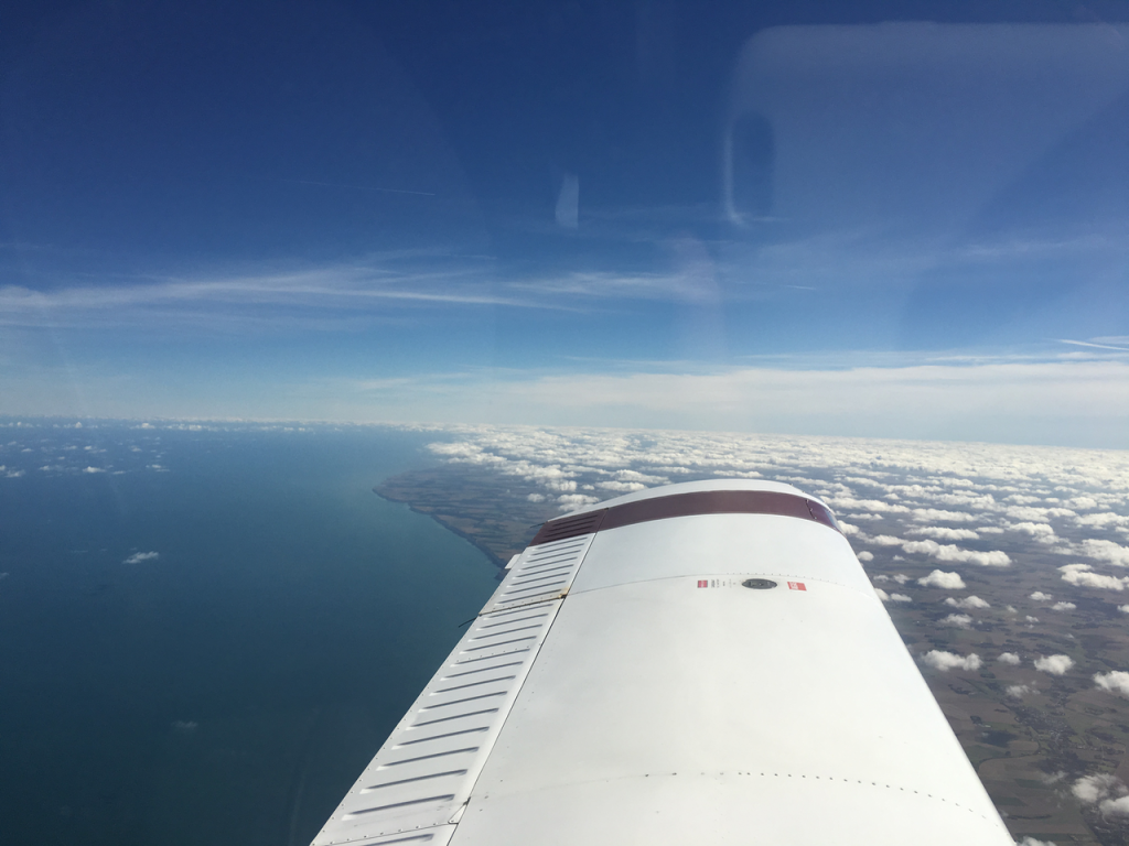 Coasting in just east of Le Havre