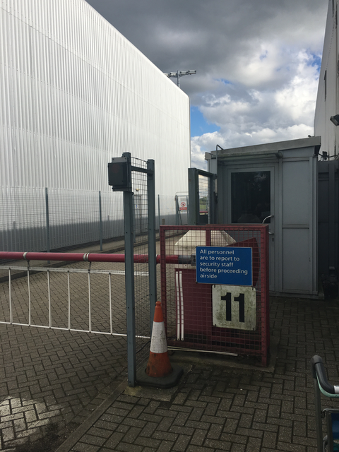 The non-descript vehicle gate/reporting point