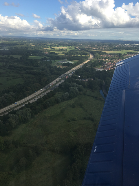 Can't miss the Motorway as a VFR navigation feature